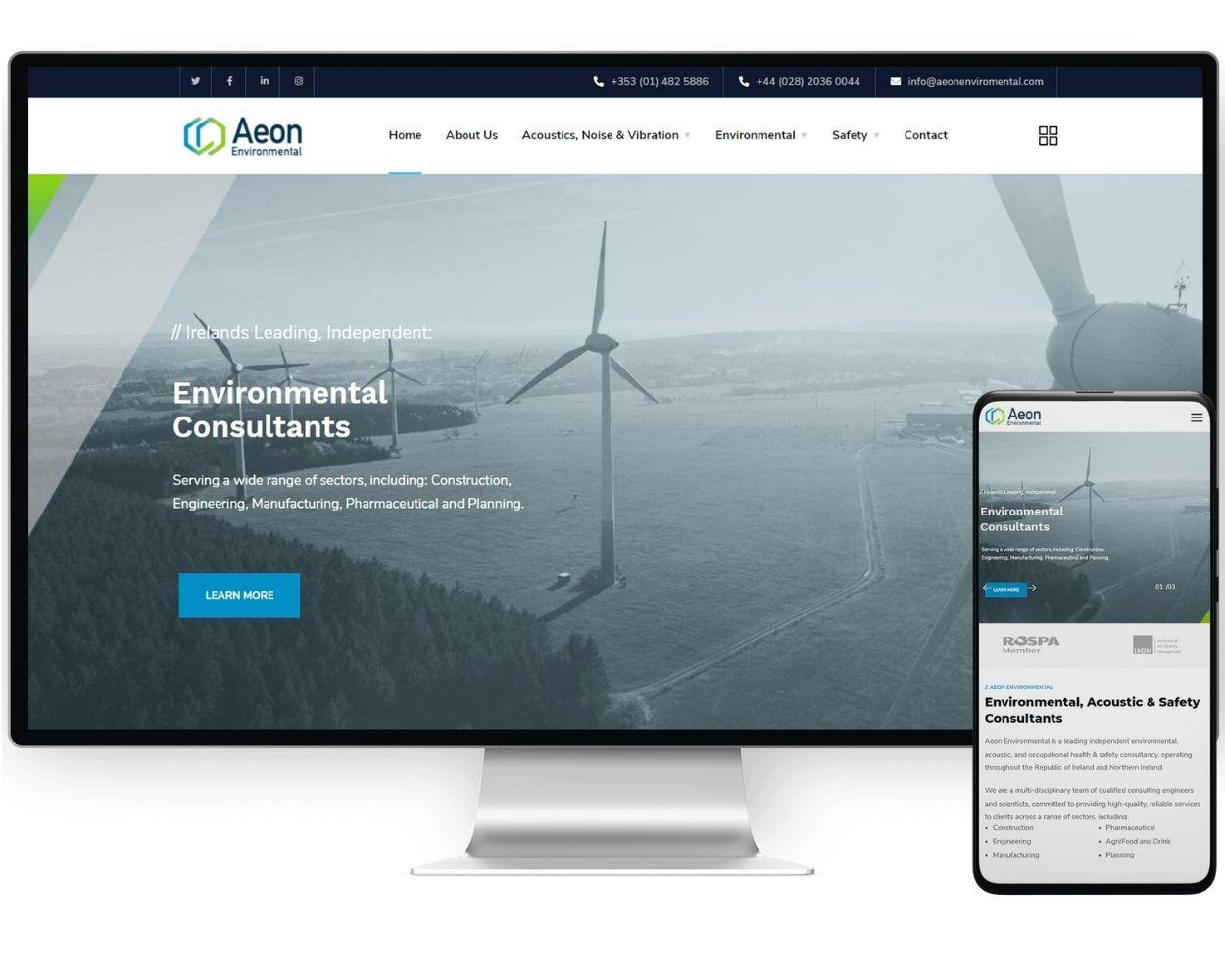 Aeon Environmental   Best Web Design Company Dublin